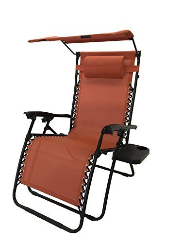 Deluxe Oversized Extra Large Zero Gravity Chair with Canopy Tray Terra Cotta Review /  sc 1 st  Pinterest & Deluxe Oversized Extra Large Zero Gravity Chair with Canopy Tray ...