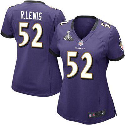 a6c02716c Nike Ray Lewis Baltimore Ravens Ladies Super Bowl XLVII Bound Game Jersey -  Purple