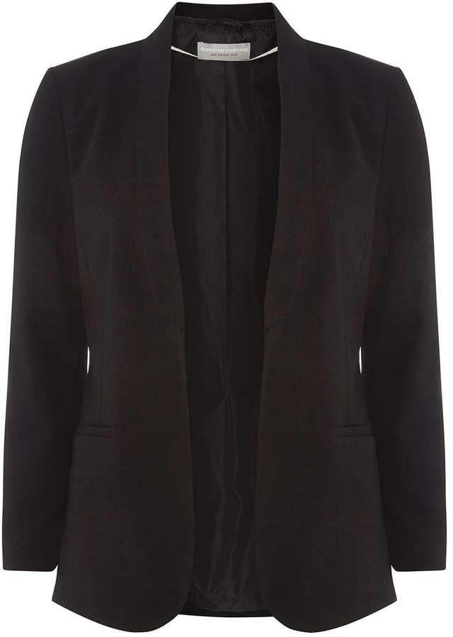 Petite Black Shawl Jacket