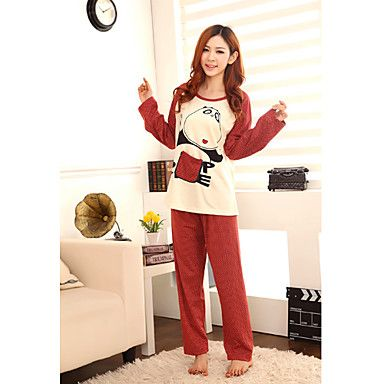 Women's Knitting Cute Bear Lovers Lounge Wear