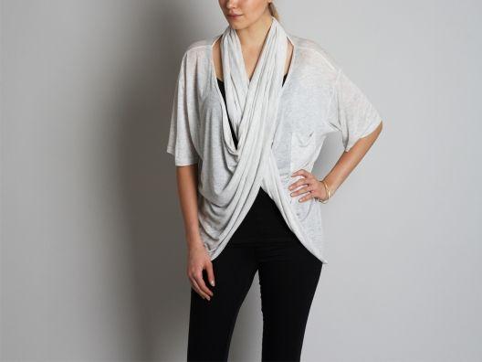 cowl scarf pocket tee ++ heather