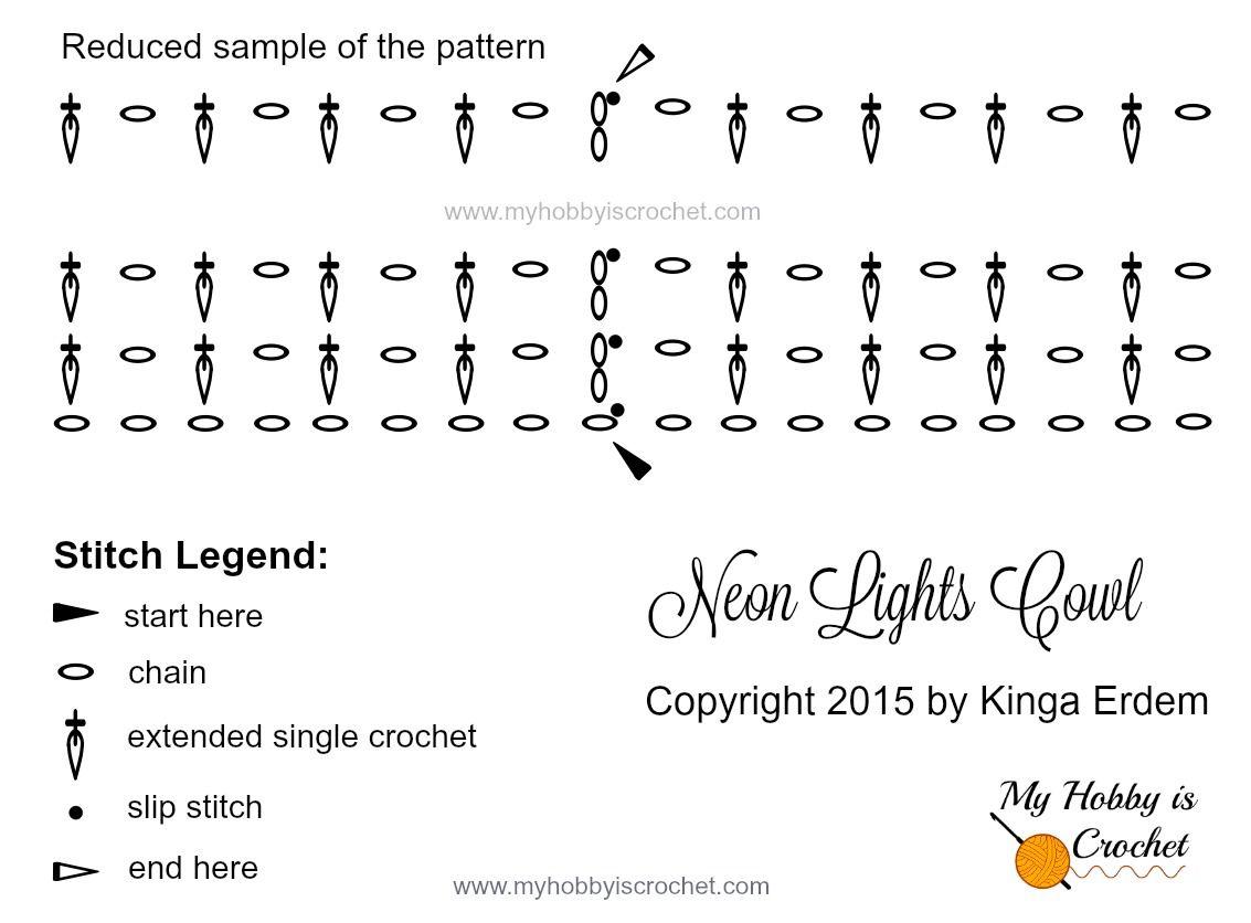 My Hobby Is Crochet: Neon Lights Cowl - Free Crochet Pattern ...
