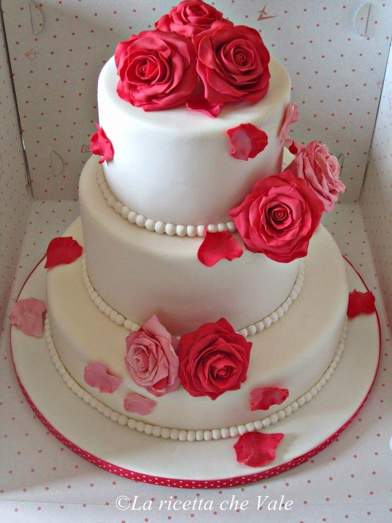 Risultati immagini per torte con rose vere