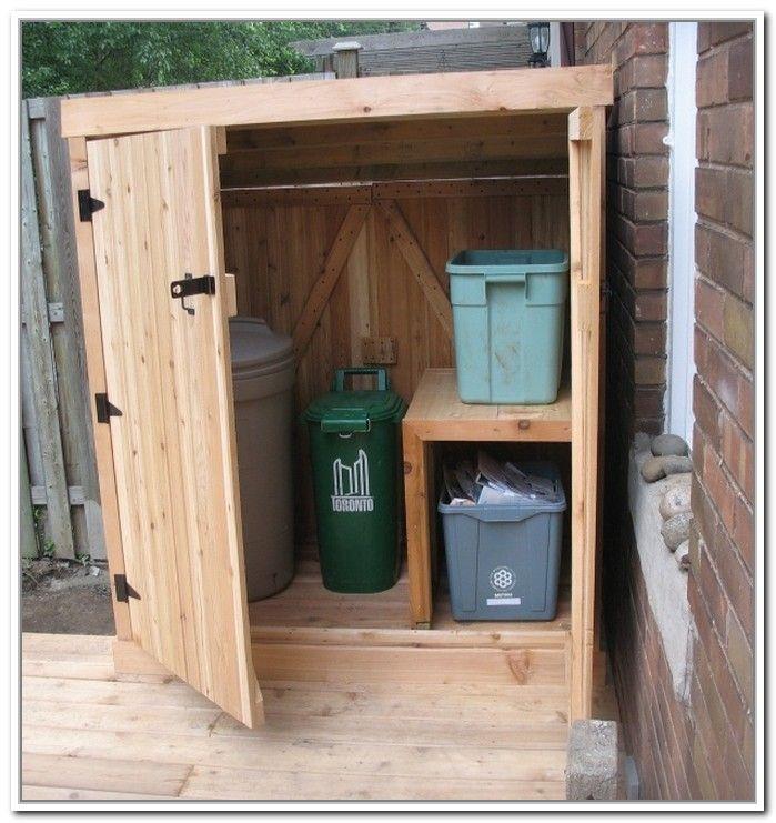 Outdoor Garbage Can Enclosures Extra Large 3 Door Storage Bin
