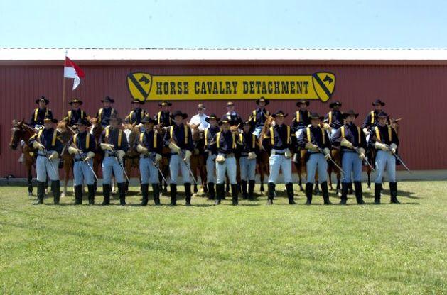 1ts Cav Horse Detachment Honor Guard Cavalry Soccer Field