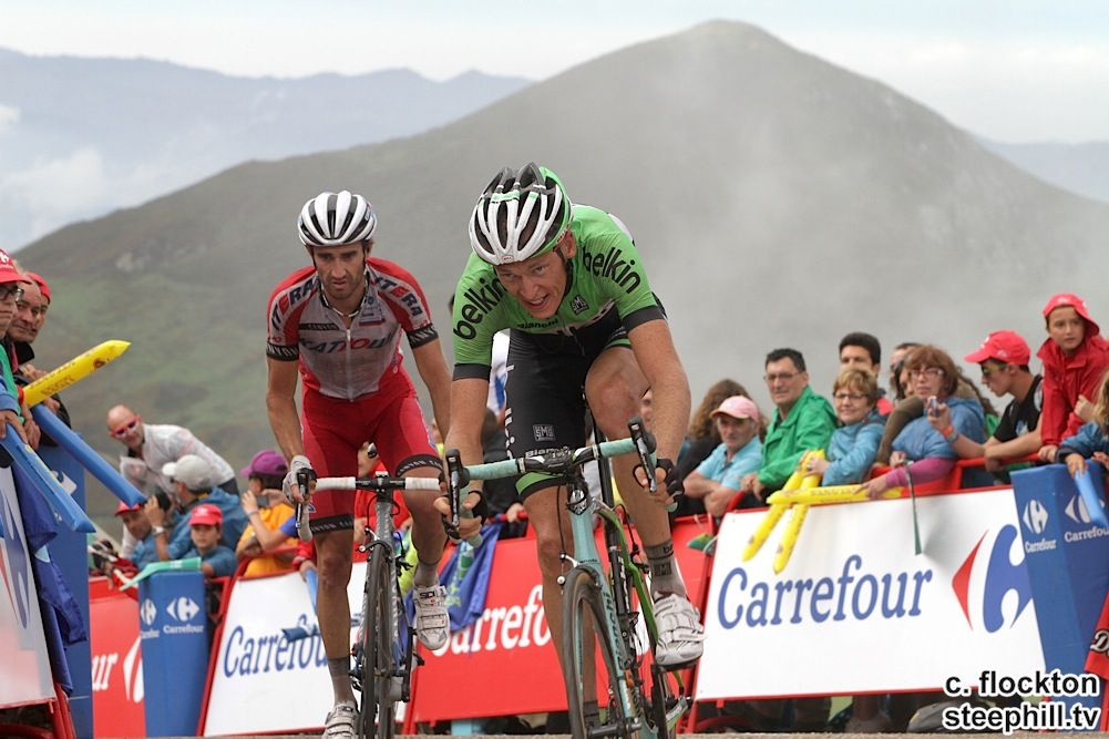 2014 vuelta-a-espana photos stage-15 - 11th Robert GESINK (BELKIN) and 12th Daniel MORENO (KATUSHA) + 1:07