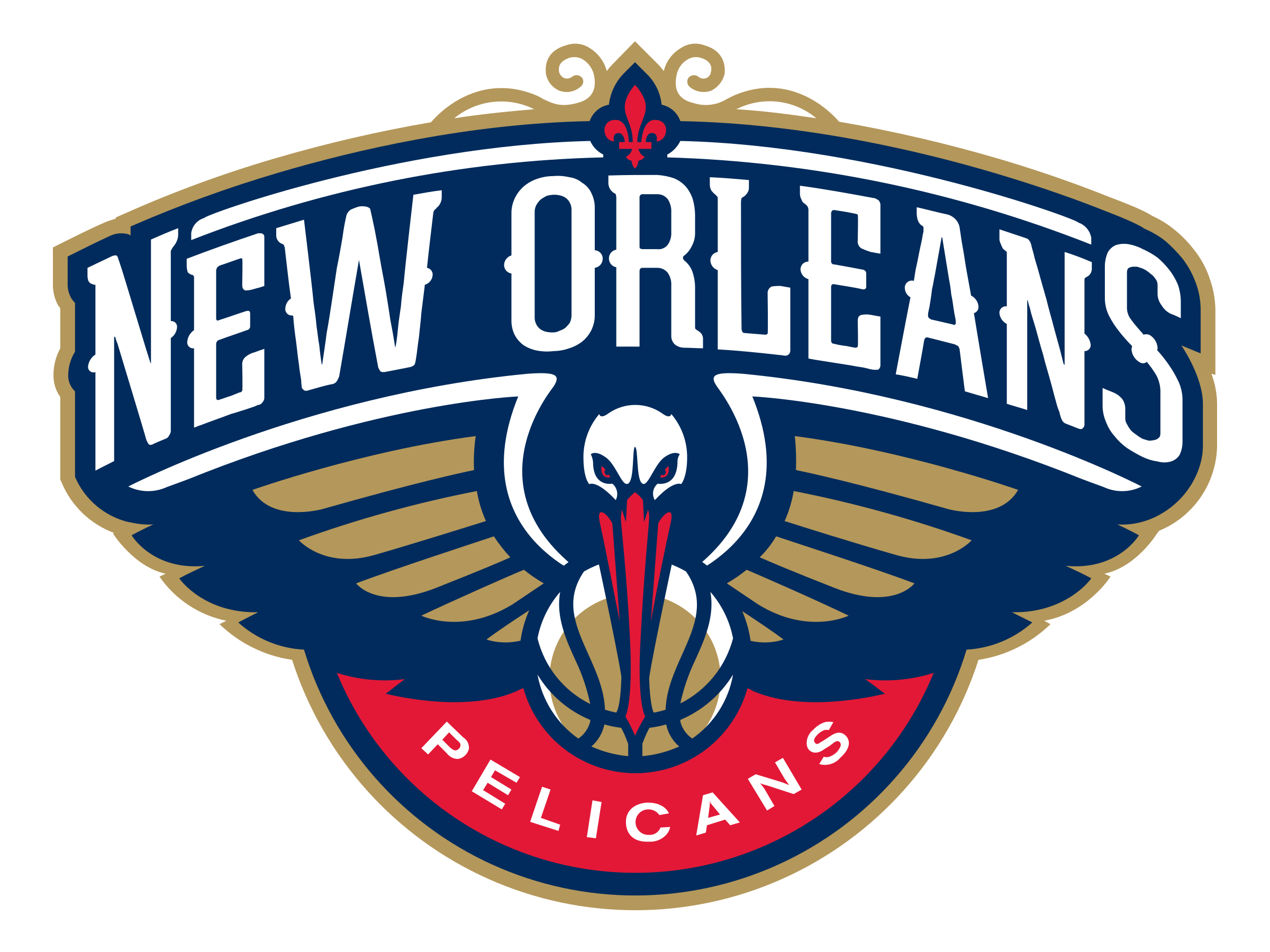 New Orleans Pelicans Logo Transparent New Orleans Pelicans Pelicans Basketball Team Logo Design