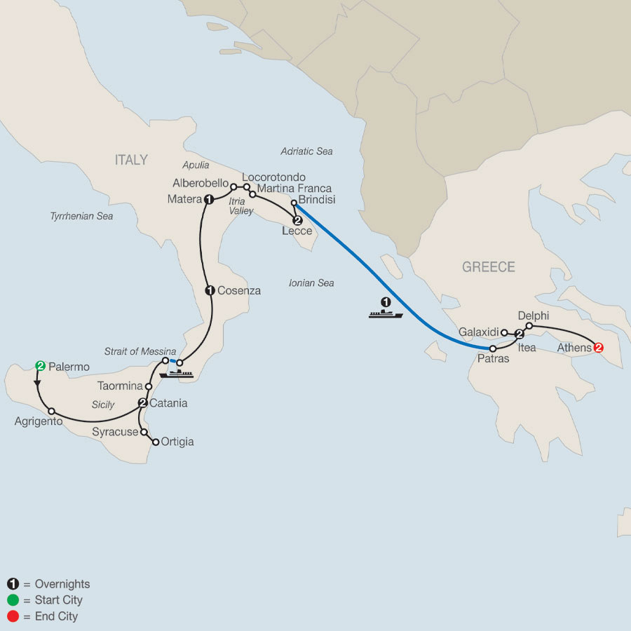 Southern Italy & Greece map   Greece tours, Greece, Southern italy