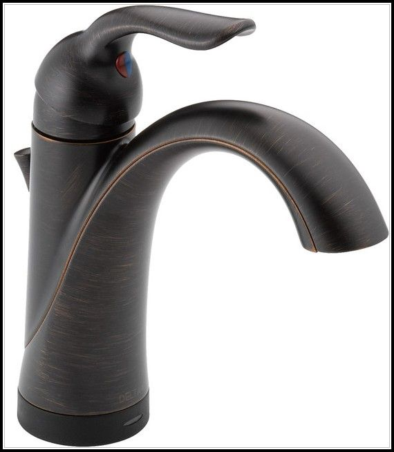 delta oil rubbed bronze bathroom faucet