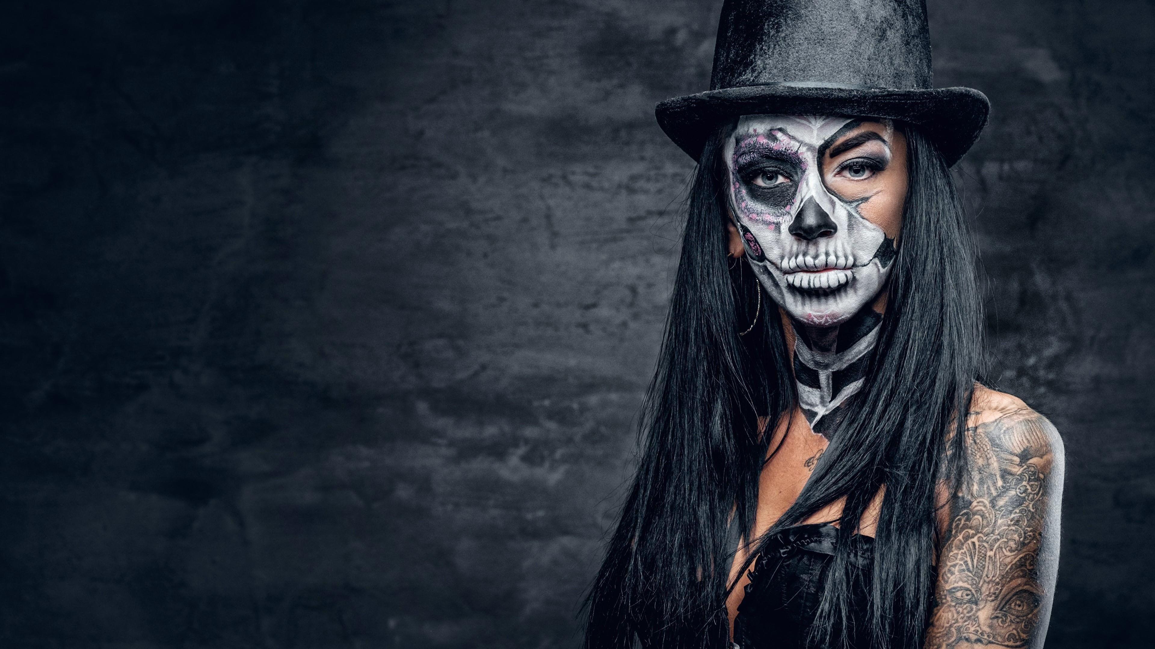 Sugar Skull Skull Halloween Makeup Mexican Day Of The Dead
