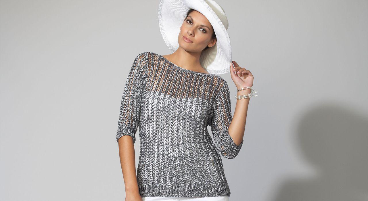 Un pull gris ajouré | Modele tricot, Modele tricot gratuit et Tricot