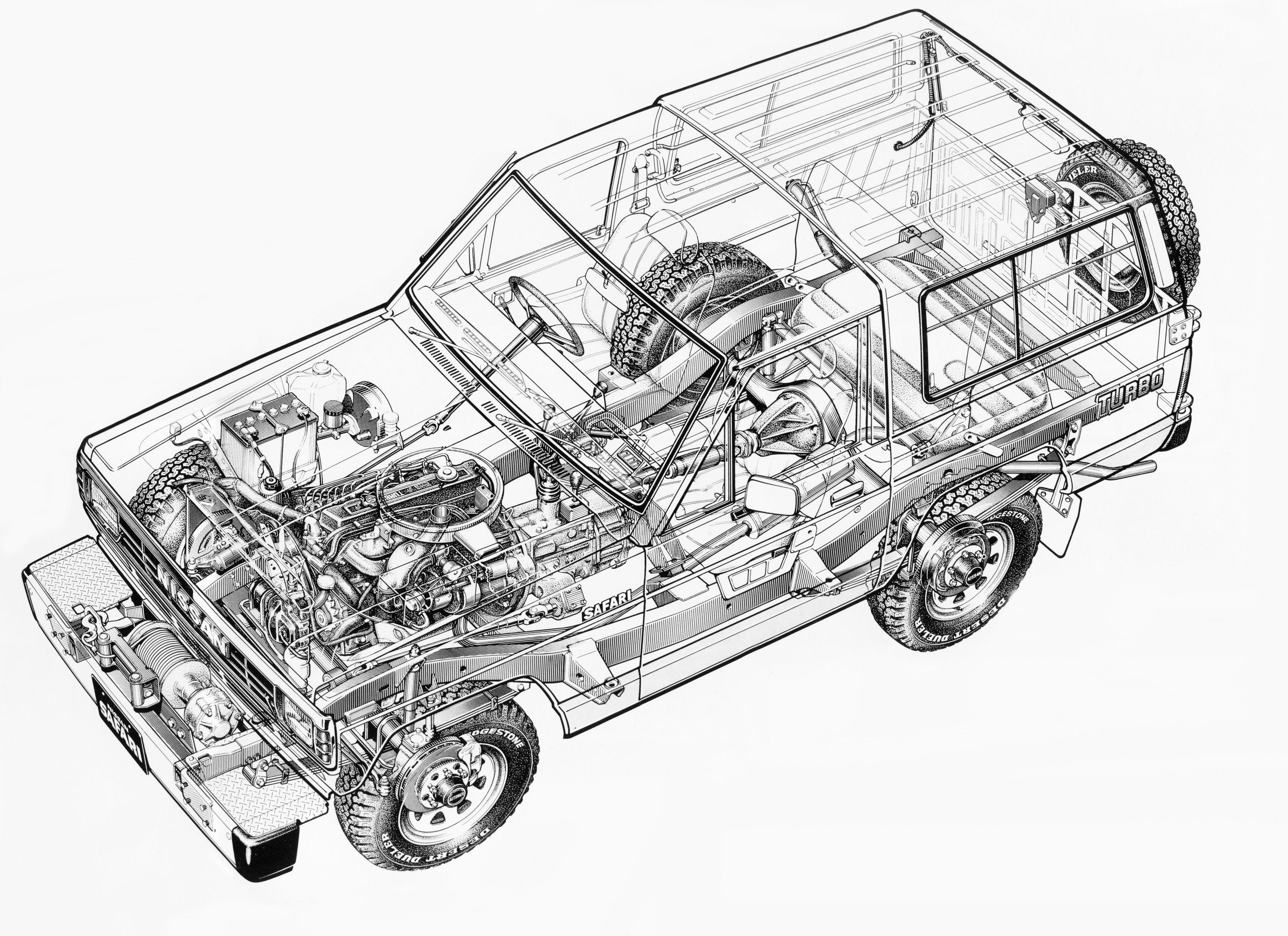 87 Nissan Safari Hard Top Model 161