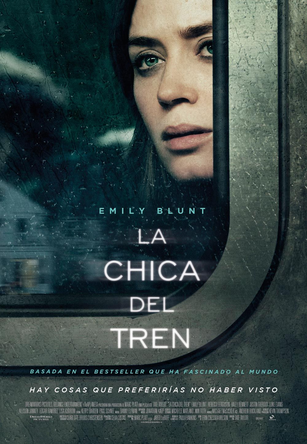 THE GIRL ON THE TRAIN MOVIE POSTER 2 Sided ORIGINAL FINAL 27x40 EMILY BLUNT