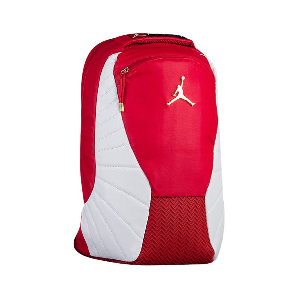 Jordan Retro 12 Backpack - Basketball - Accessories - Gym Red White ( 75) ❤  liked on Polyvore featuring bags 0c175f0d1ec7e