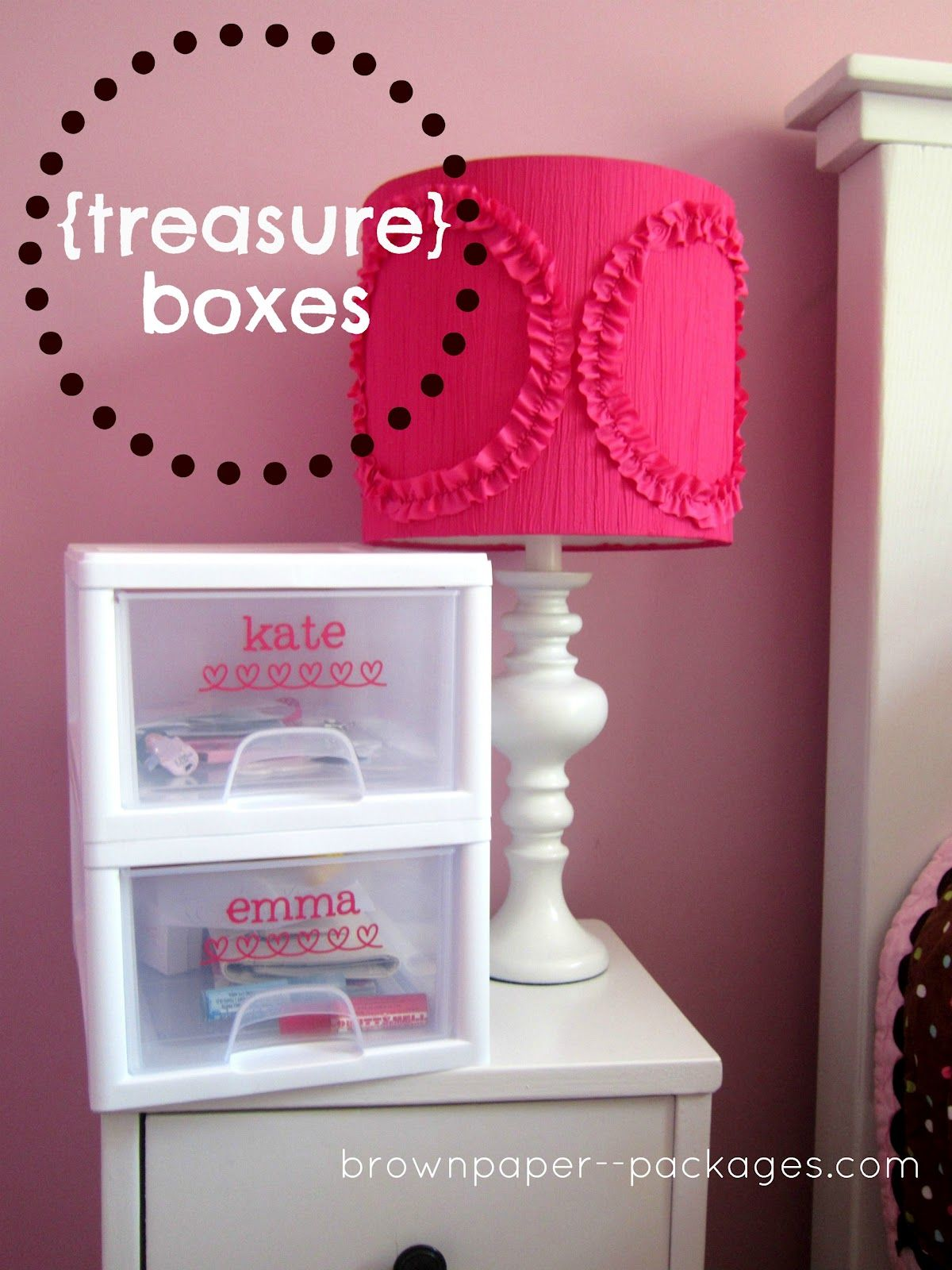 brown paper packages: {a place for everything} treasure boxes
