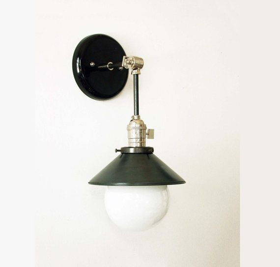 Modern black sconce wall light nickel adjustable fixture black modern black sconce wall light nickel adjustable fixture black nickel wall lamp bedroom lighting office light office lighting electrical components and mozeypictures Images