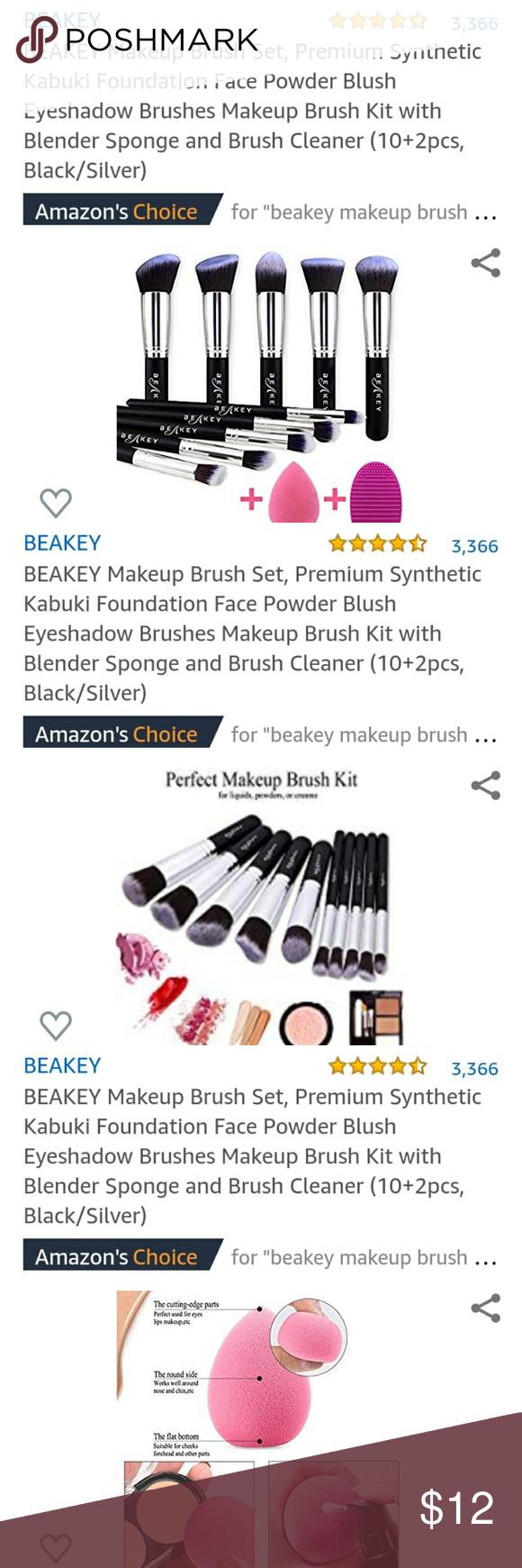 Photo of Make-up brush set Beakey make-up brush set. Brand new. 10 brushes, 1 mixer … -…
