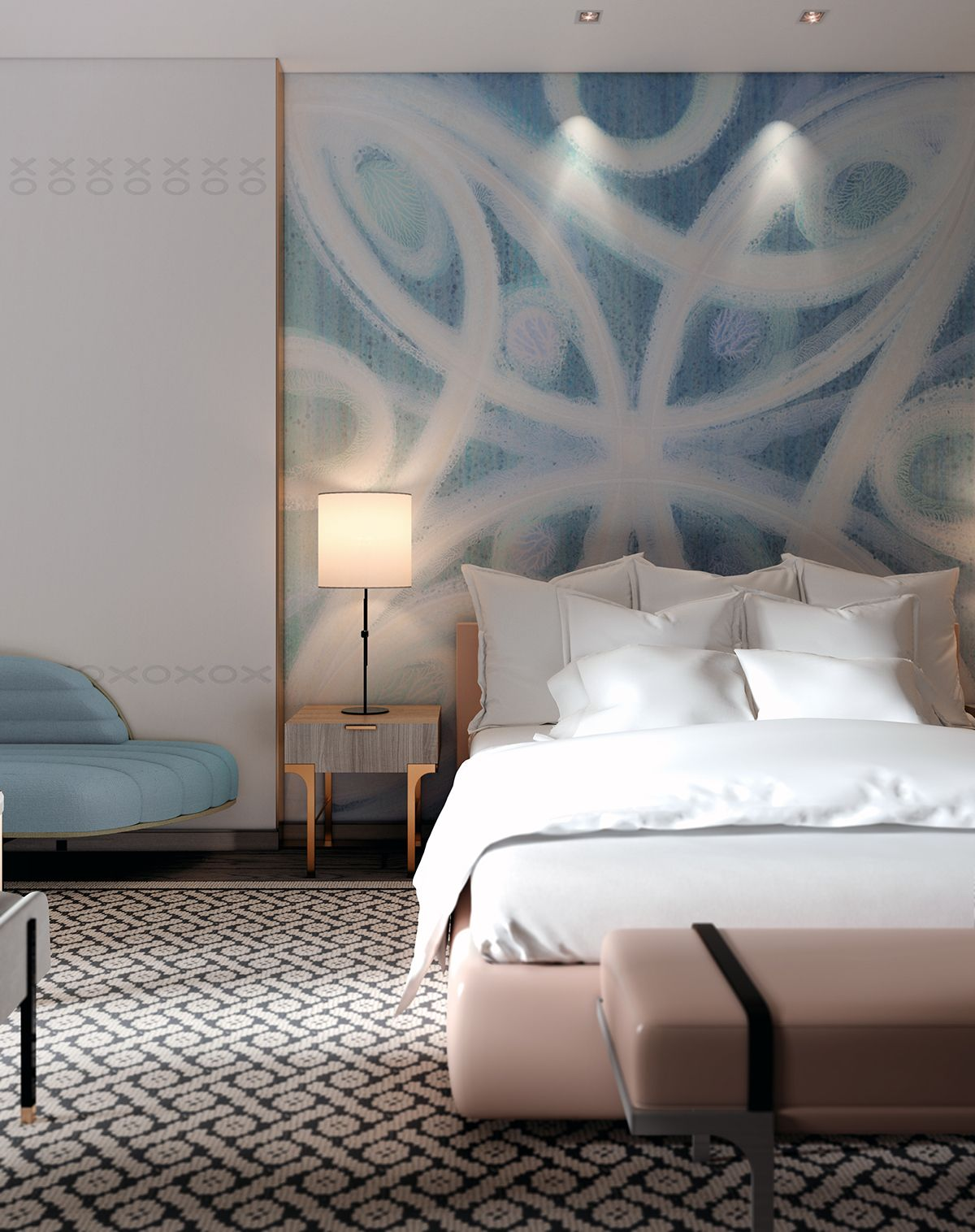 Wall Covering On Behance Home Bedroom Master Bedroom