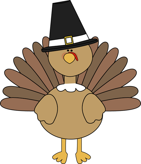 Turkey wearing a pilgrim hat free clipart from mycutegraphics
