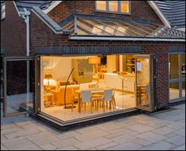 Origin bifolding doors can also be used on corner projects, opening ...