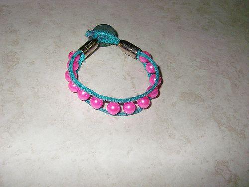 bracciale zip e perline