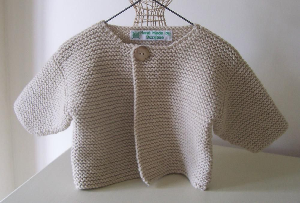 Simple Baby Cardigan Knitting pattern by Buzybee | Baby ...