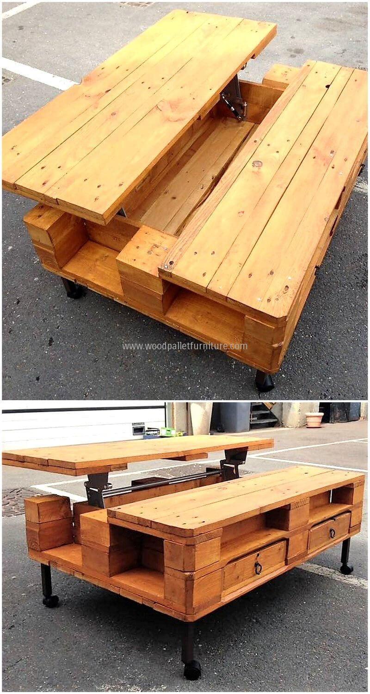 Pallet Made Top Up Table Wood Pallets Wood Pallet Furniture Pallet