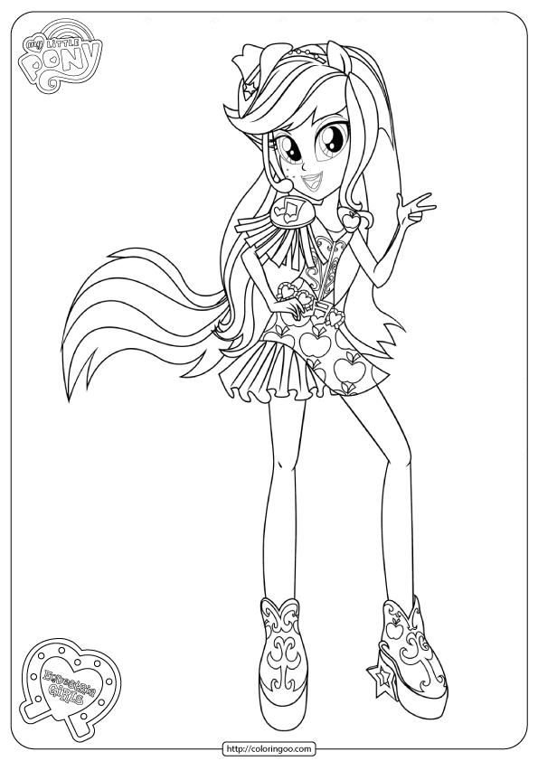 Mlp Equestria Girls Applejack Coloring Pages Coloring Pages For Girls My Little Pony Coloring Cute Coloring Pages
