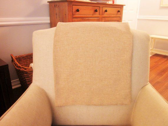Terrific Headrest Chair Protector Or Cover Burlap Or Linen Like 30 Gmtry Best Dining Table And Chair Ideas Images Gmtryco