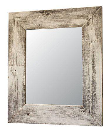 whitewash barnwood wall mirror #zulily #zulilyfinds