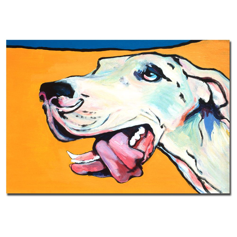 'Ol' Blue Eye' by Pat Saunders-White Painting Print on Canvas | Wayfair
