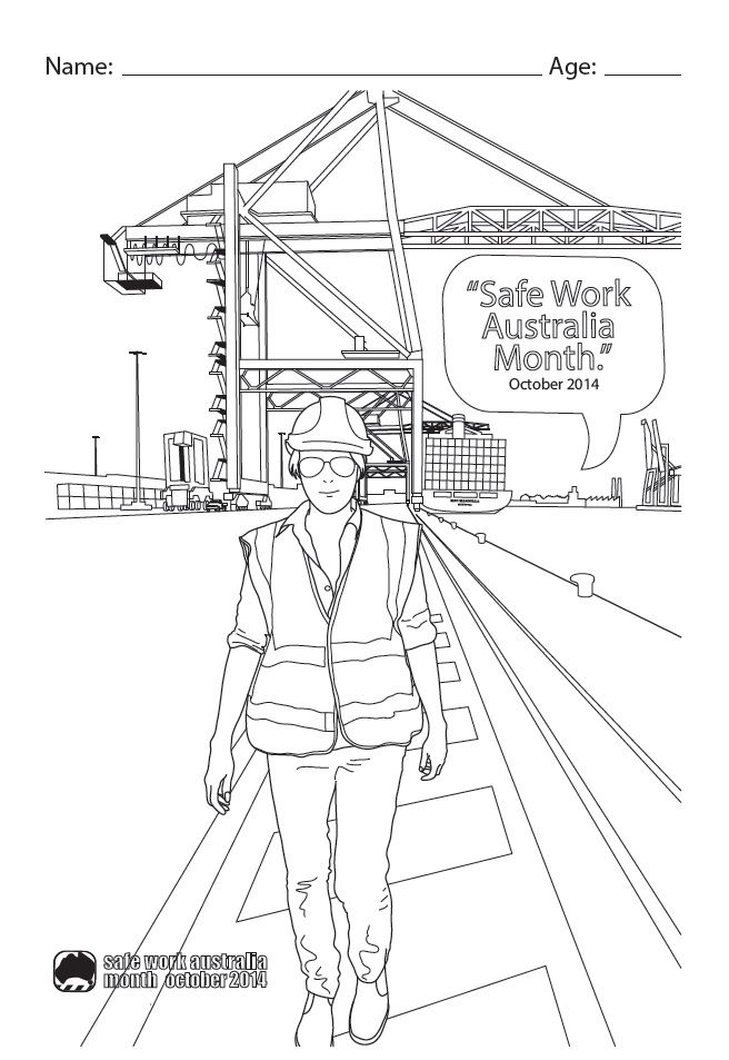 Workplace Safety Colouring In Competition