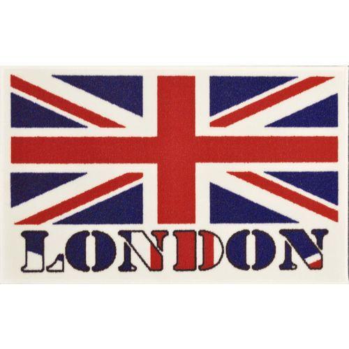 Tapis imprimé London - 2 Dimensions - 50 x 80 - Bleu Rouge : en vente sur RueDuCommerce
