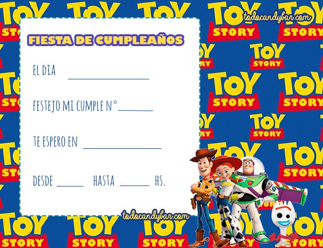 Tarjetas Toy Story 4 Cumpleanos Invitaciones Toy Story