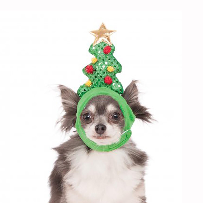 Light Up Christmas Tree Dog Hat In 2020 Christmas Tree Dog Dog Holiday Dog Hat