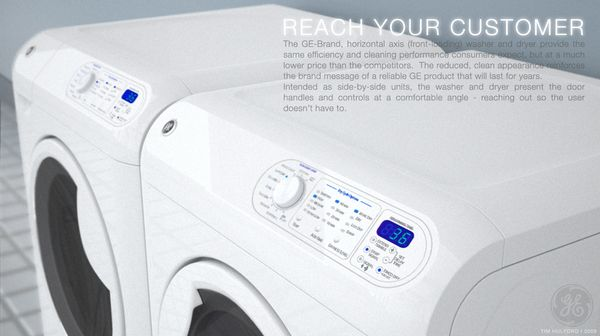 Ge Brand Horizontal Axis Washer And Dryer On Behance Washer And