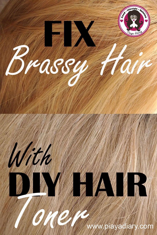 Diy hair toner from brassy hair to ash blonde hair