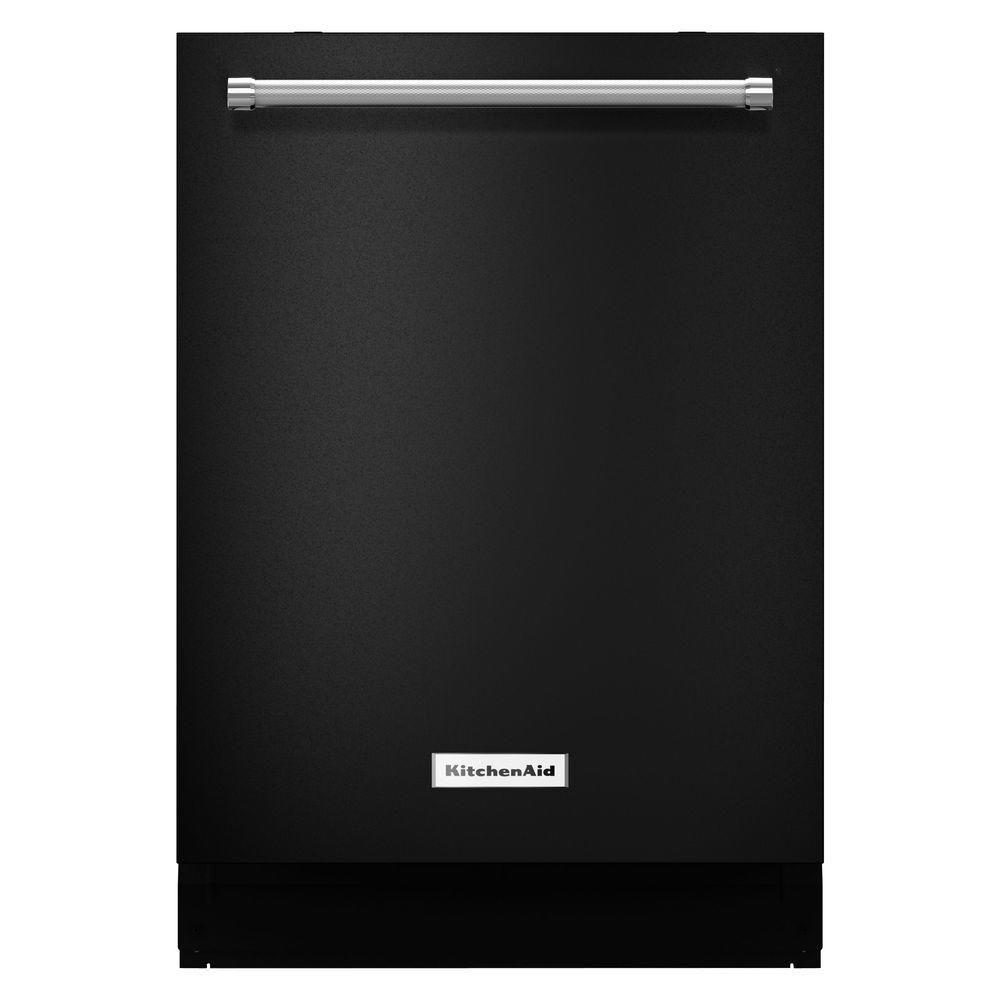 Kitchenaid Top Control Dishwasher In Black With Proscrub Manual Guide