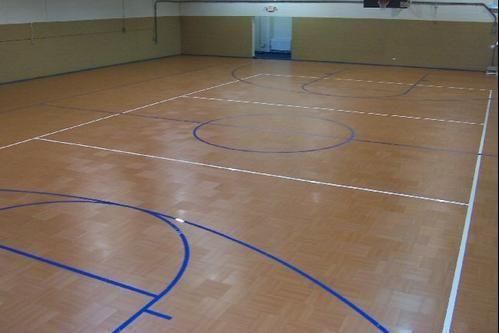 Indoor Basketball Court With Custom Flooring Design Gym Flooring Flooring Basketball Floor