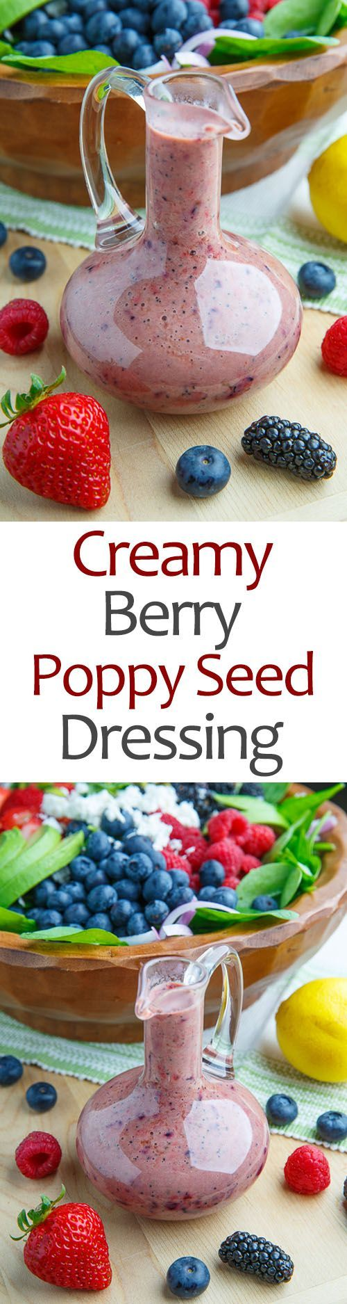 Photo of Creamy Berry Poppy Seed Dressing #Berry #Creamy #Dressing #ensala