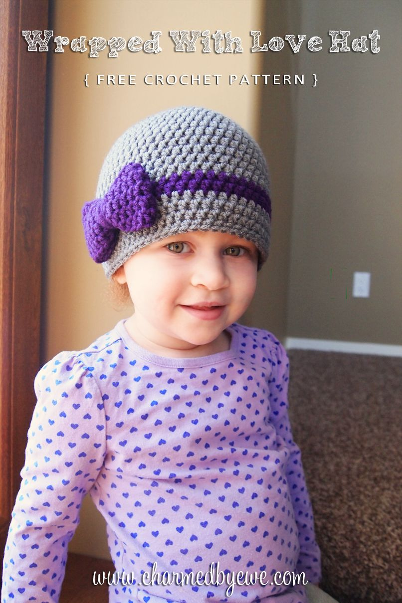 Free Crochet Pattern: Wrapped With Love Hat - NB to Adult | Crochet ...