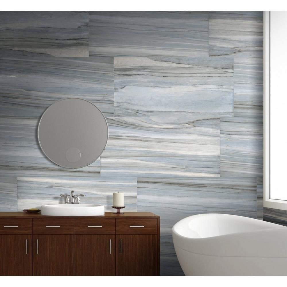 Volga Aqua Polished Porcelain Tile | Pinterest | Porcelain tile ...