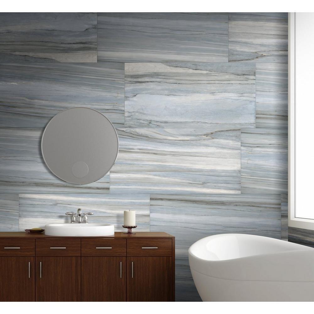 volga aqua polished porcelain tile - 18in. x 36in. - 100248194