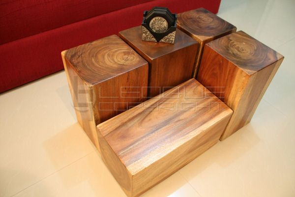 Wood Block Furniture Interior Design. Rustic Chic Coffee Table - Solid Wood Block Coffee Table CoffeTable