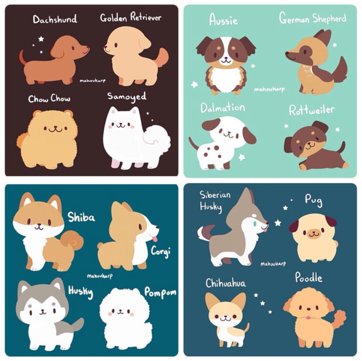 Puppies Mahoukarp With Images Animal Drawings