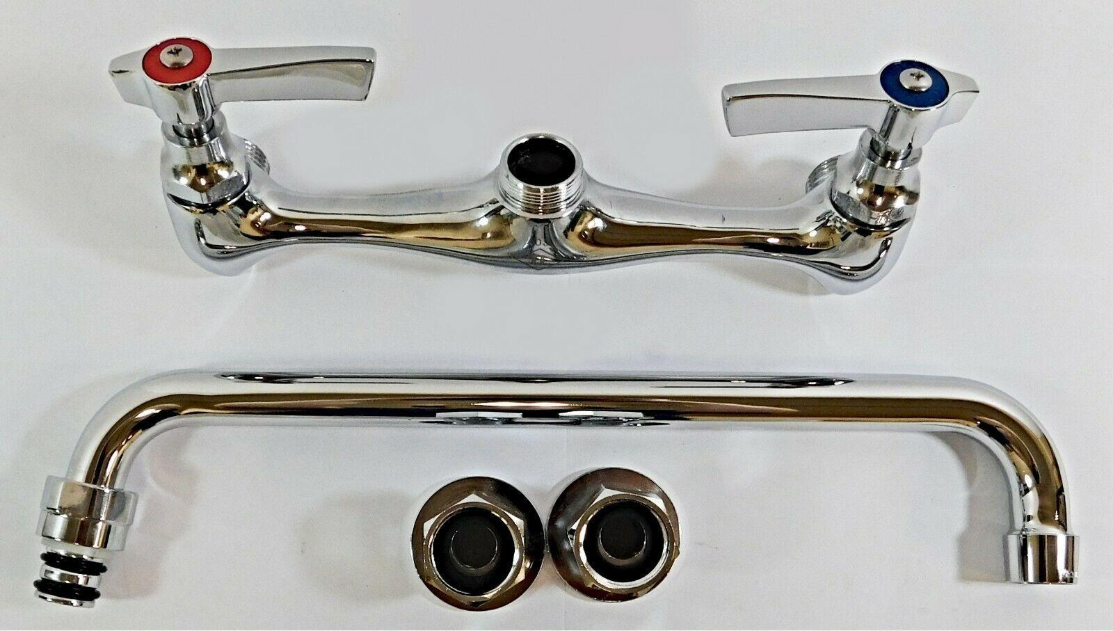 Topline Kitchen Splash Mounted Faucet 12 L Spout 2 Handles 1 2 Fnpt Kitchen Faucets Ideas Of Kitchen Kitchen Faucet Kitchen Faucets Pull Down Faucet