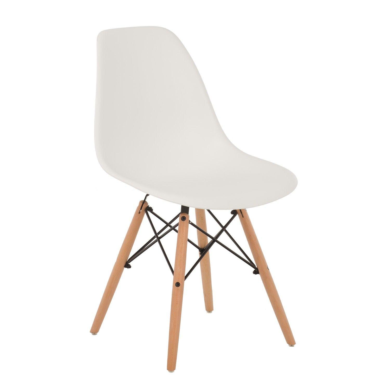 Silla IMS Sei Originell Scandi Style Eiffel Eames Dsw Chair White
