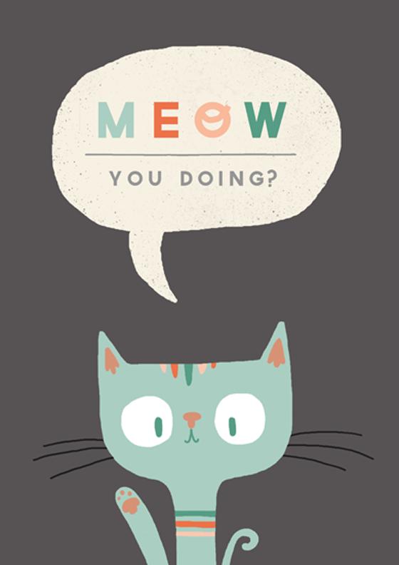 STEPH BAXTER HANDDRAWN TYPOGRAPHY Cats illustration