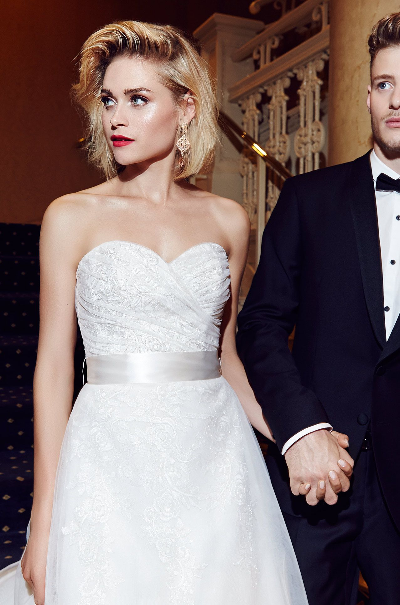 View Lace and Organza Wedding Dress - Style #1953 from Mikaella ...