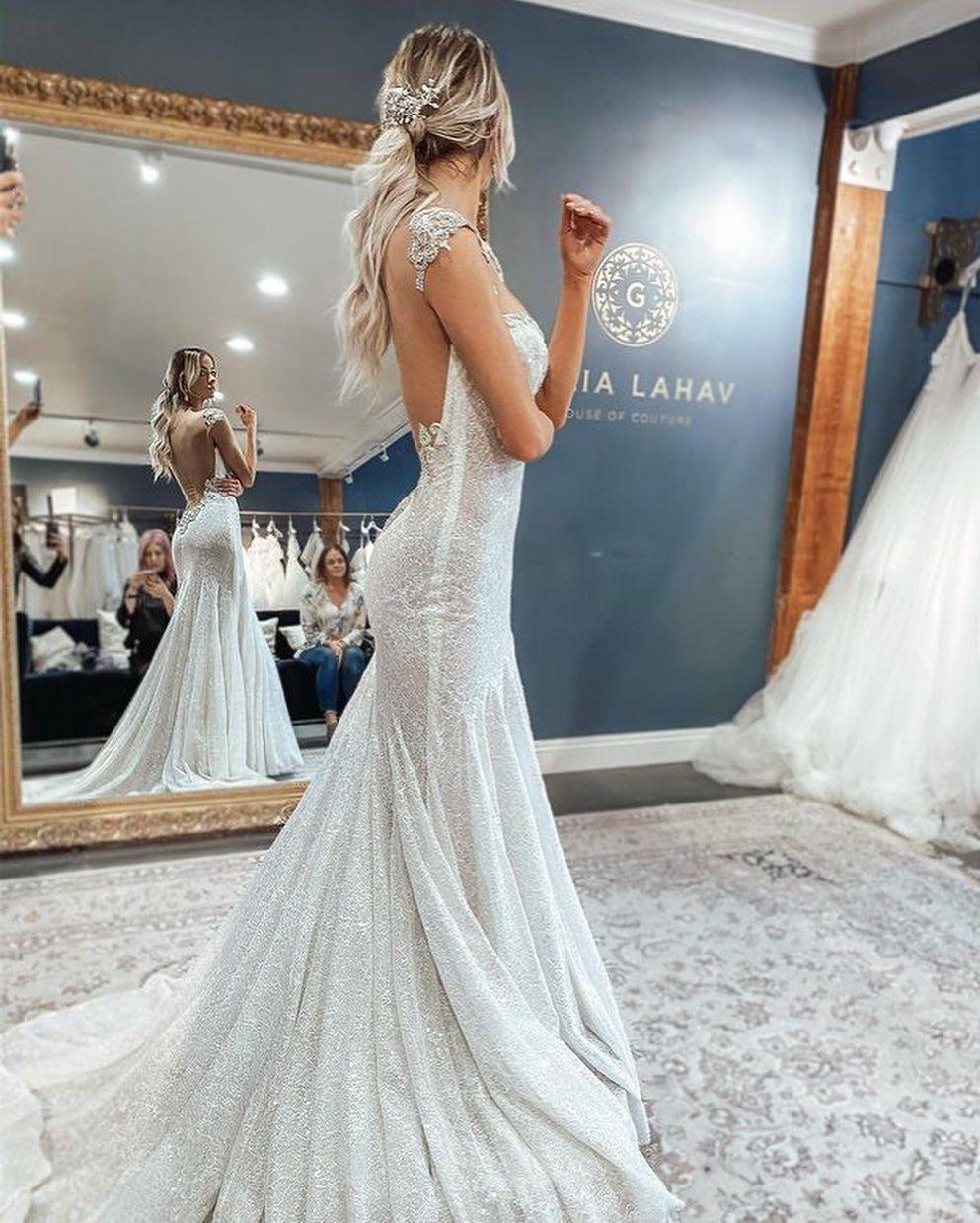 Galia Lahav Sparkle Mermaid Wedding Gown Fitted Wedding Dress Sparkle Wedding Dress Trumpet Style Wedding Dress [ 1239 x 993 Pixel ]